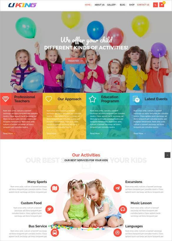 education bootstrap theme for children school11