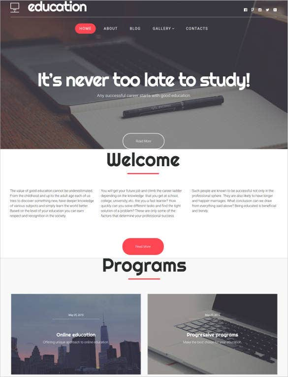 education hub bootstrap theme