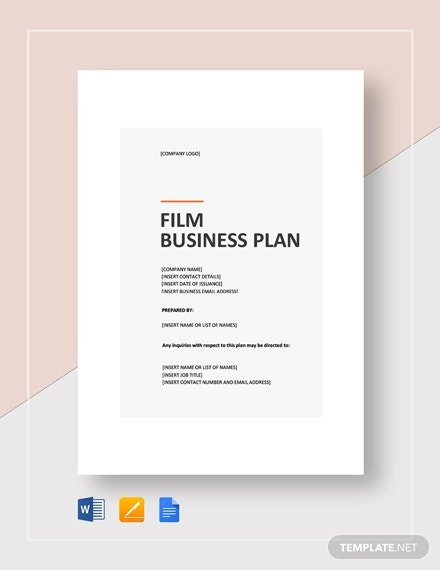 film business plan template