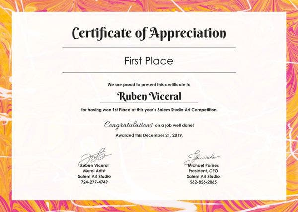 Certificate of appreciation free pdf ppt documents download free appreciation certificate template yadclub Gallery