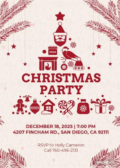 free christmas greeting invitation card template