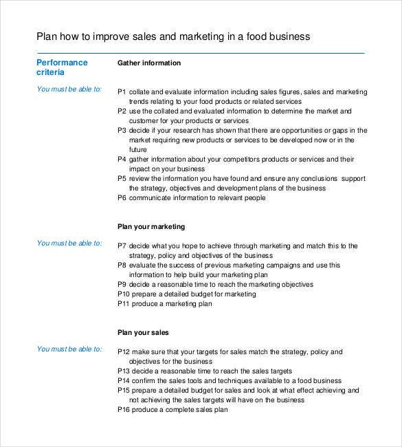 Sales Plan Templates - 21+ Free Sample, Example, Format | Free