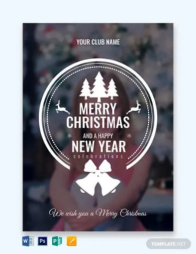 free photo christmas greeting card template