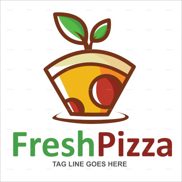 fresh pizza logo template