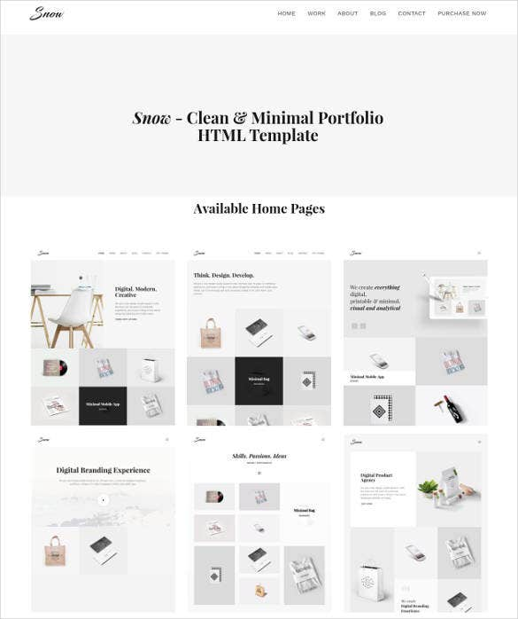 html and bootstrap 4 blog portfolio template