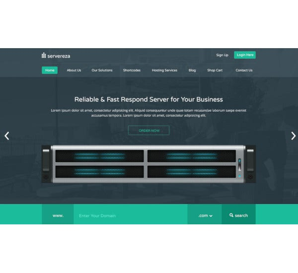 hosting business premium psd theme