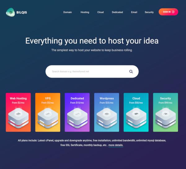 hosting psd template