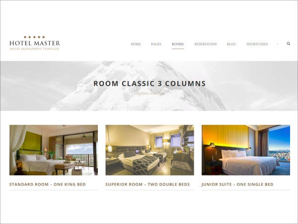 hotel master hotel html template
