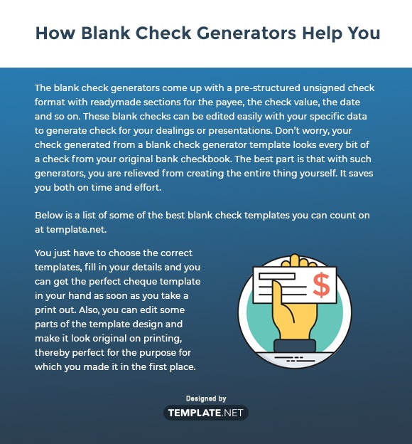 how blank check generators help you