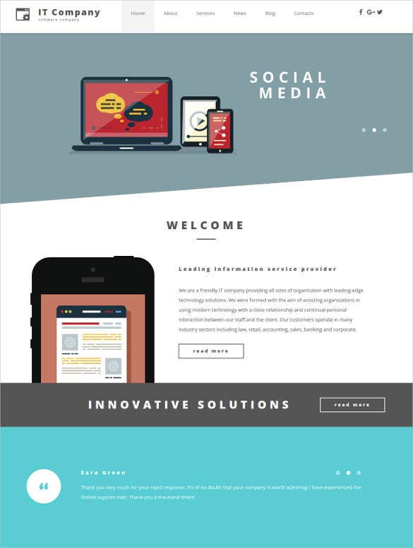 24+ Social Media Website Themes & Templates | Free & Premium Templates
