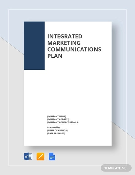 integrated marketing communications plan template