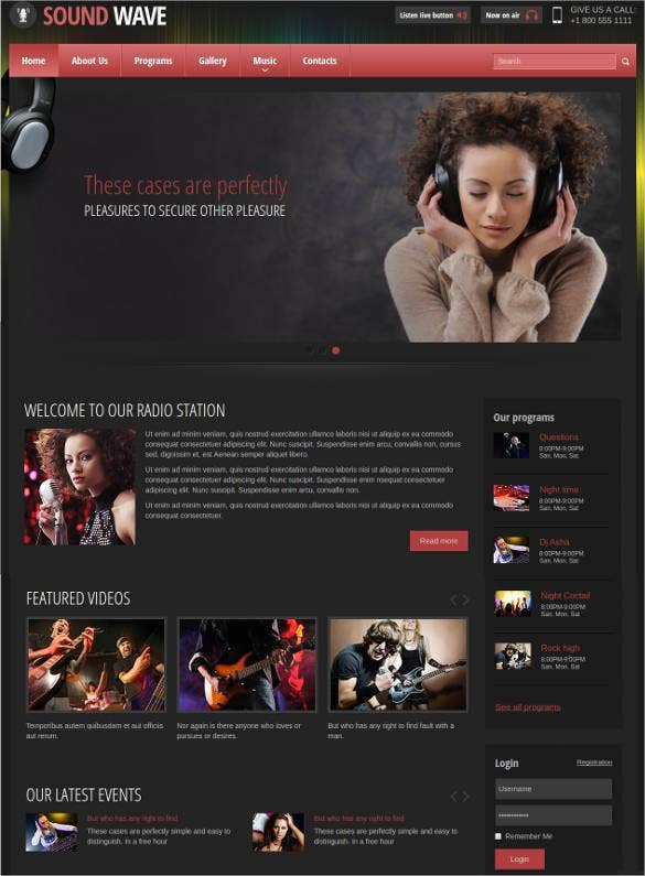 internet radio station website template1