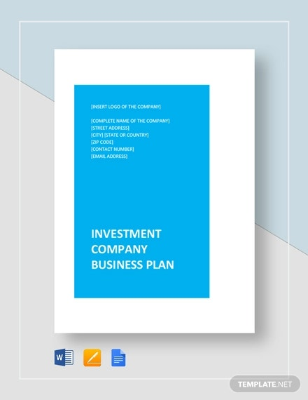 investment company business plan template
