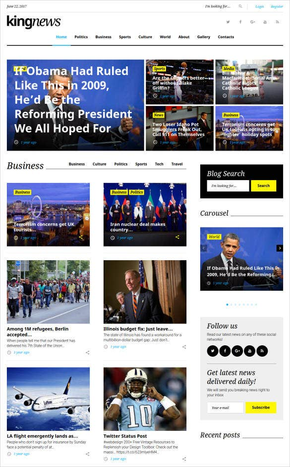 kingnews-premium-bootstrap-blog-theme
