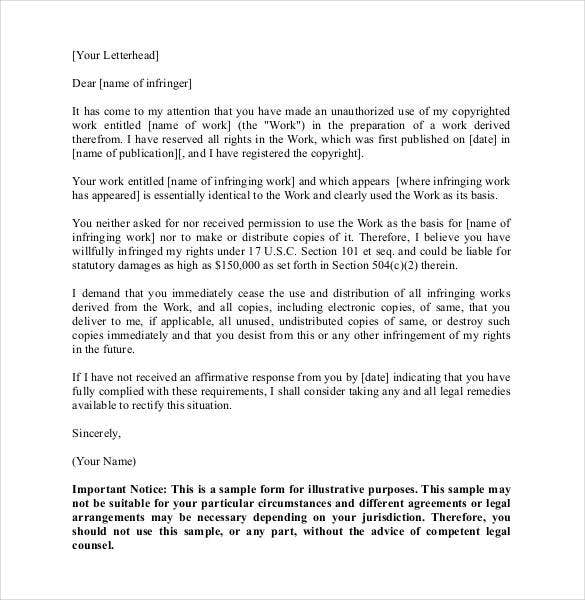 Cease and desist letter template 16 free sample example format legal cease and desist letter template altavistaventures Gallery