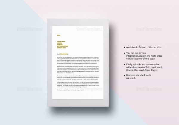 letter-of-encouragement-to-sales-staff-template