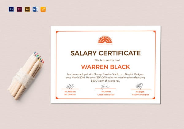 13 salary certificate template free word excel pdf psd free monthly salary certificate template altavistaventures Gallery