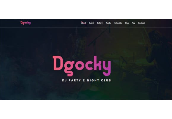 night club responsive music bootstrap theme