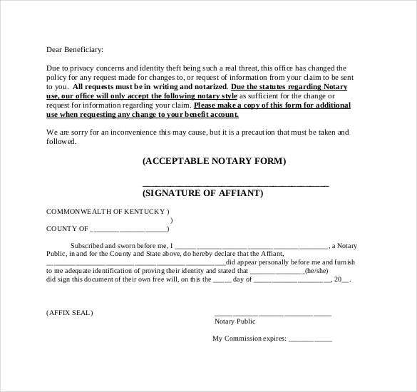 Notarized Letter Templates PDF DOC Free Premium Templates - Notary letter template