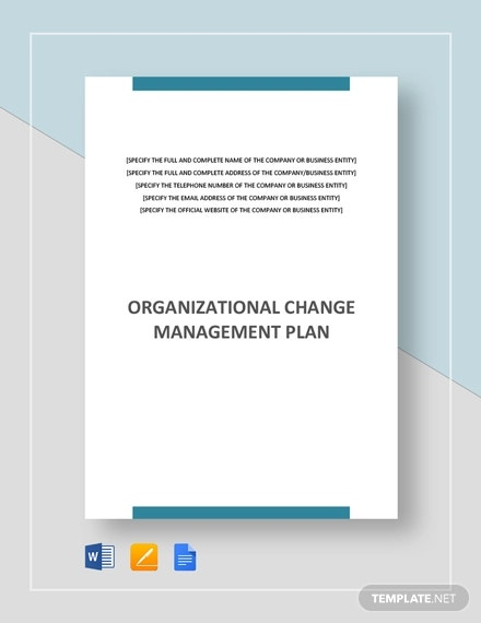 organizational change management plan template1