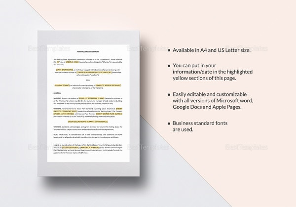 Printable Blank Lease Agreement Form 15 Free Word PDF – Blank Lease Agreements