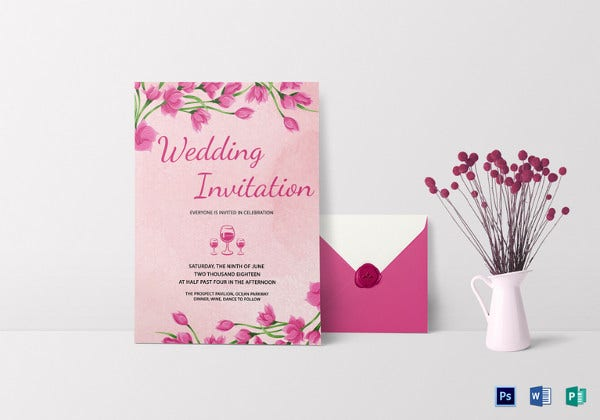 pink-floral-wedding-invitation-card-template