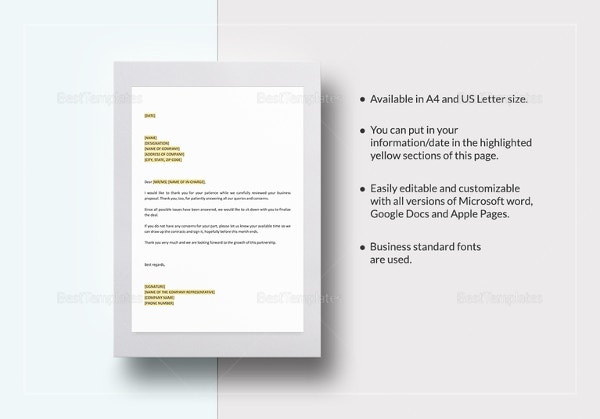 respond to rfp template - 14 proposal letter templates free sample example