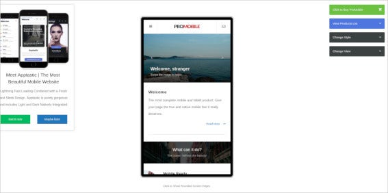 pro-mobile-template