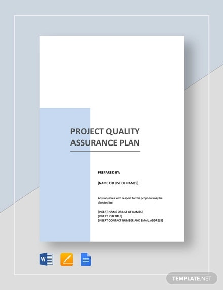 project quality assurance plan template1