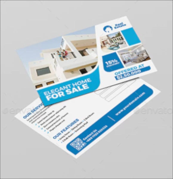 real estate business postcard template1
