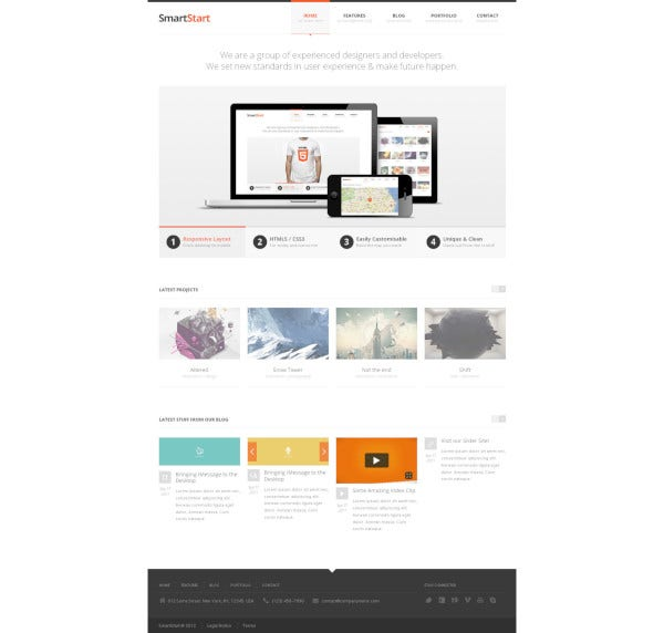 responsive html5 template theme
