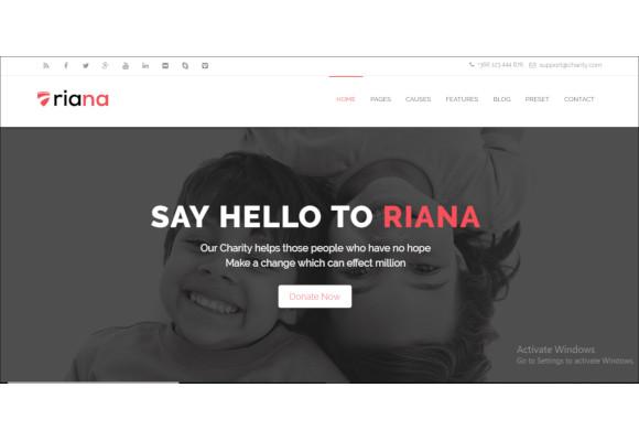 riana joomla charity template