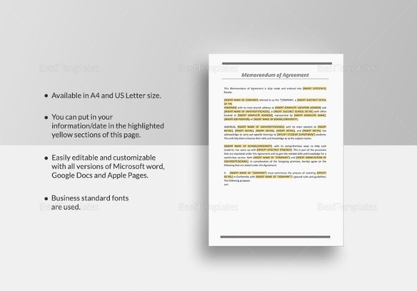 sample-memorandum-of-agreement-template
