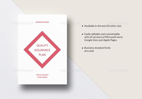 12 quality assurance plan templates free sample for Quality assurance policy template