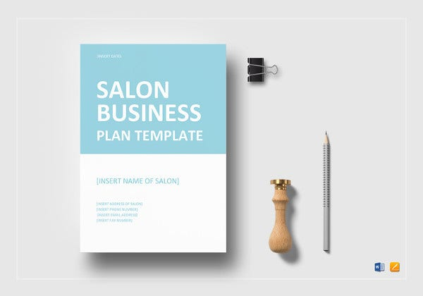 sample salon business plan template