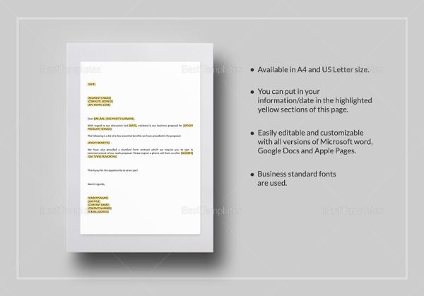 short-letter-enclosing-proposal-template