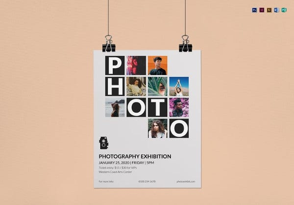 simple photography exhibition flyer template