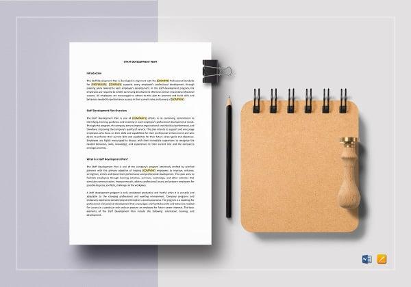 simple-staff-development-plan-template