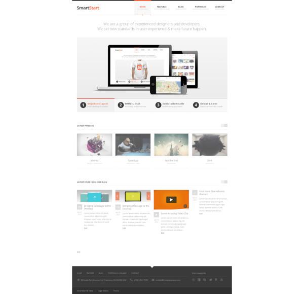smartstart responsive html5 theme