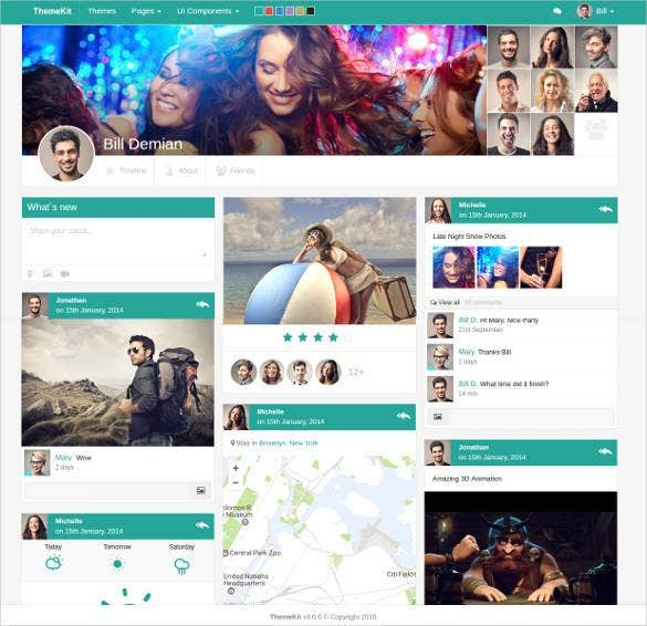 24  social media website themes  u0026 templates