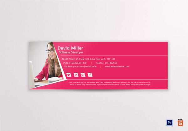 software developer email signature template