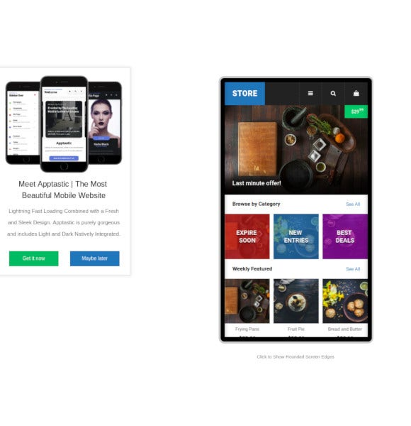store mobile template