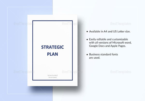 Strategic Plan Template  Microsoft Strategic Plan