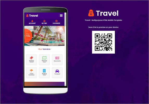 travel multipurpose html mobile template