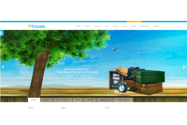 travelo travel tour booking html5 template