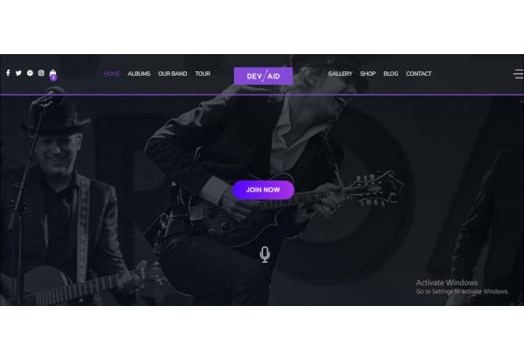 universal music wordpress bootstrap theme