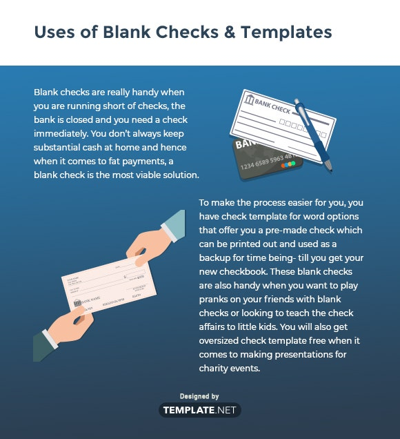 uses of blank checks templates