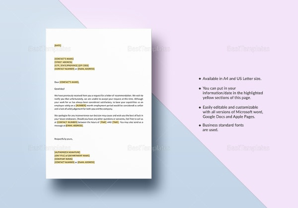 verification-of-employment-and-letter-of-recommendation-template