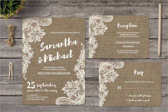 vintage-lace-wedding-program-template