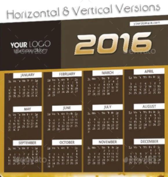 wall n desk 2016 calendar template psd format
